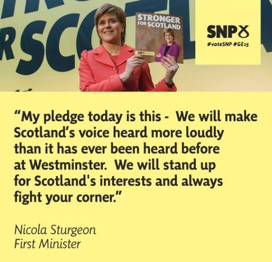 Nicola Sturgeon quote from the SNP Manifesto Launch